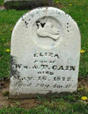 CAIN, ELIZA - Mercer County, Ohio | ELIZA CAIN - Ohio Gravestone Photos