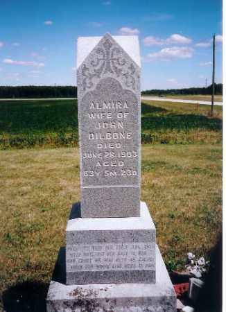 DILBONE, ALMIRA - Mercer County, Ohio   ALMIRA DILBONE - Ohio Gravestone Photos