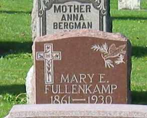 FULLENKAMP, MARY E - Mercer County, Ohio | MARY E FULLENKAMP - Ohio Gravestone Photos