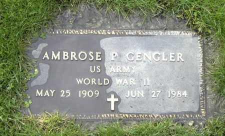 GENGLER, AMBROSE P - Mercer County, Ohio | AMBROSE P GENGLER - Ohio Gravestone Photos