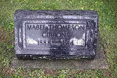 THOMPSON GIBBONS, EDNA MABEL - Mercer County, Ohio | EDNA MABEL THOMPSON GIBBONS - Ohio Gravestone Photos
