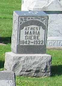 GIERE, MARIA - Mercer County, Ohio | MARIA GIERE - Ohio Gravestone Photos