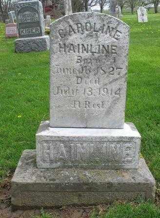 HAINLINE, CAROLINE - Mercer County, Ohio | CAROLINE HAINLINE - Ohio Gravestone Photos