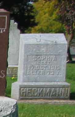 HECKMANN, SOPHIA - Mercer County, Ohio | SOPHIA HECKMANN - Ohio Gravestone Photos