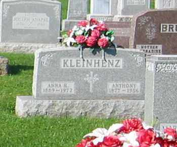 KLEINHENZ, ANNA H. - Mercer County, Ohio | ANNA H. KLEINHENZ - Ohio Gravestone Photos