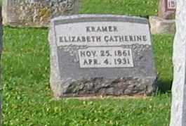 KRAMER, ELIZABETH CATHERINE - Mercer County, Ohio | ELIZABETH CATHERINE KRAMER - Ohio Gravestone Photos