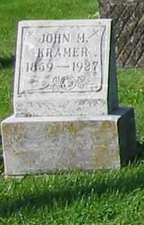 KRAMER, JOHN H - Mercer County, Ohio | JOHN H KRAMER - Ohio Gravestone Photos