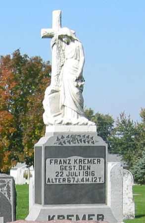 KREMER, FRANZ - Mercer County, Ohio | FRANZ KREMER - Ohio Gravestone Photos