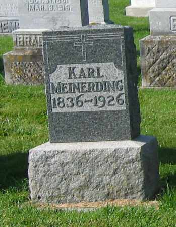 MEINERDING, KARL - Mercer County, Ohio | KARL MEINERDING - Ohio Gravestone Photos