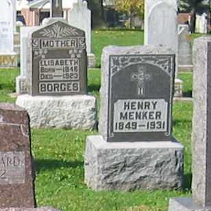 MENKER, HENRY - Mercer County, Ohio | HENRY MENKER - Ohio Gravestone Photos