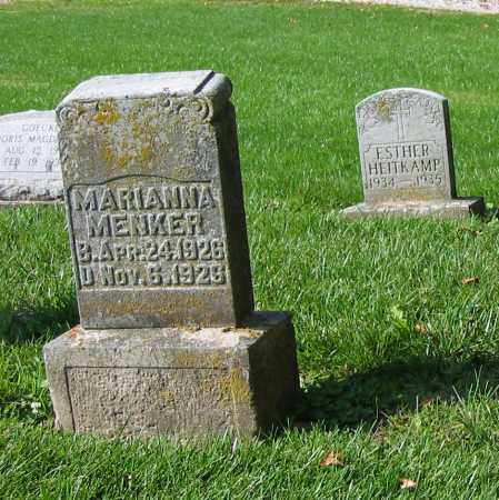 MENKER, MARIANNA - Mercer County, Ohio | MARIANNA MENKER - Ohio Gravestone Photos