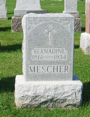 MESCHER, BERNADINE - Mercer County, Ohio   BERNADINE MESCHER - Ohio Gravestone Photos