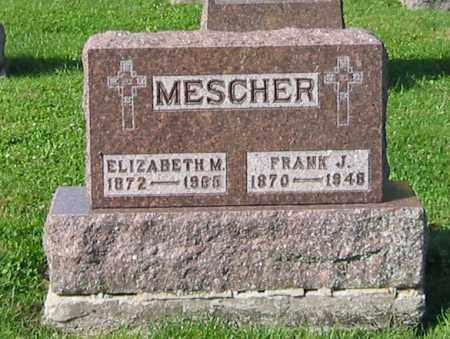 MESCHER, FRANK J - Mercer County, Ohio | FRANK J MESCHER - Ohio Gravestone Photos