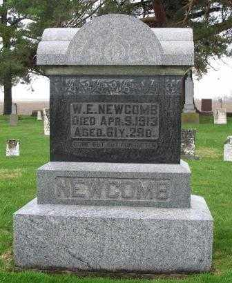 NEWCOMB, W.E. - Mercer County, Ohio | W.E. NEWCOMB - Ohio Gravestone Photos