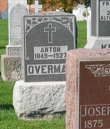 OVERMAN, ANTON - Mercer County, Ohio | ANTON OVERMAN - Ohio Gravestone Photos