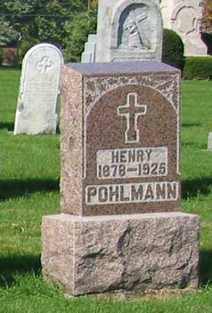 POHLMANN, HENRY - Mercer County, Ohio | HENRY POHLMANN - Ohio Gravestone Photos