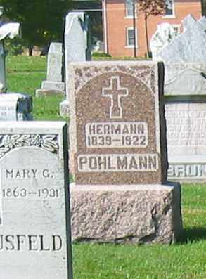 POHLMANN, HERMANN - Mercer County, Ohio | HERMANN POHLMANN - Ohio Gravestone Photos