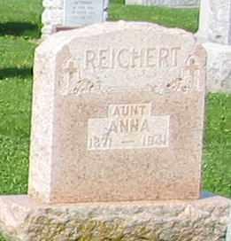 REICHERT, ANNA - Mercer County, Ohio   ANNA REICHERT - Ohio Gravestone Photos