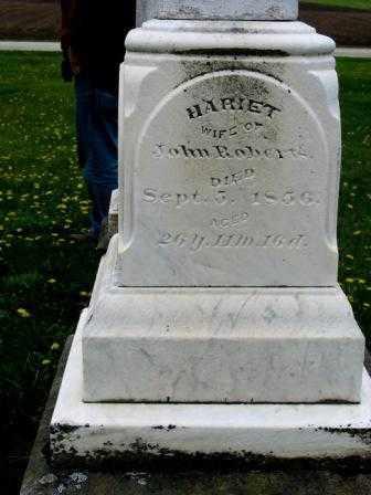 ROBERTS, HARIET - Mercer County, Ohio | HARIET ROBERTS - Ohio Gravestone Photos