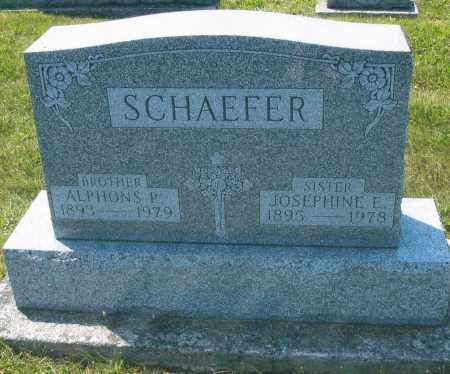 SCHAEFER, ALPHONS P. - Mercer County, Ohio | ALPHONS P. SCHAEFER - Ohio Gravestone Photos