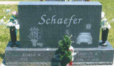 SCHAEFER, SHIRLEY A. - Mercer County, Ohio | SHIRLEY A. SCHAEFER - Ohio Gravestone Photos
