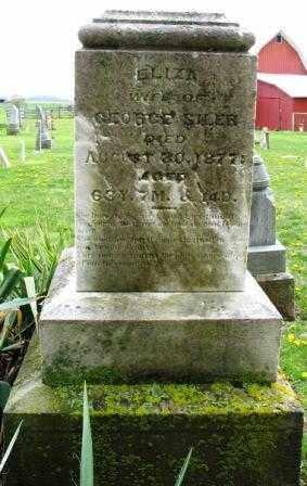 REINOEHL SILER, ELIZA - Mercer County, Ohio | ELIZA REINOEHL SILER - Ohio Gravestone Photos