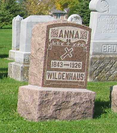 WILDENHAUS, ANNA - Mercer County, Ohio | ANNA WILDENHAUS - Ohio Gravestone Photos