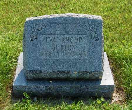 KNOOP BURTON, EVA - Miami County, Ohio | EVA KNOOP BURTON - Ohio Gravestone Photos