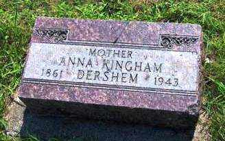 DERSHEM, ANNA - Miami County, Ohio | ANNA DERSHEM - Ohio Gravestone Photos