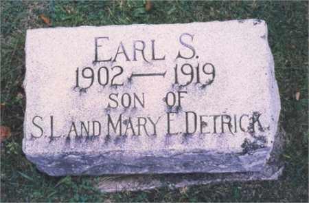 DETRICK, EARL S. - Miami County, Ohio | EARL S. DETRICK - Ohio Gravestone Photos