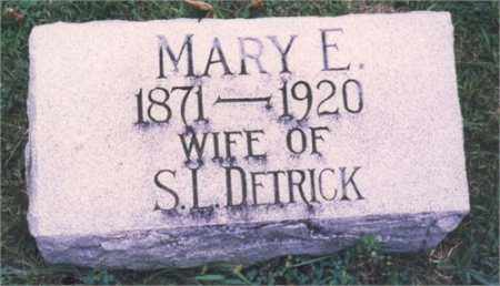DETRICK, MARY E. - Miami County, Ohio | MARY E. DETRICK - Ohio Gravestone Photos