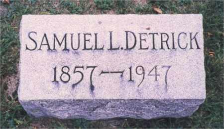 DETRICK, SAMUEL L. - Miami County, Ohio | SAMUEL L. DETRICK - Ohio Gravestone Photos
