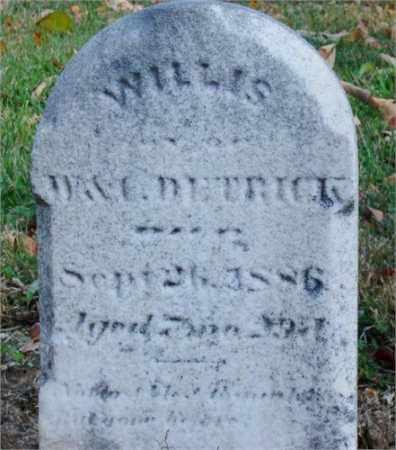 DETRICK, WILLIS - Miami County, Ohio | WILLIS DETRICK - Ohio Gravestone Photos