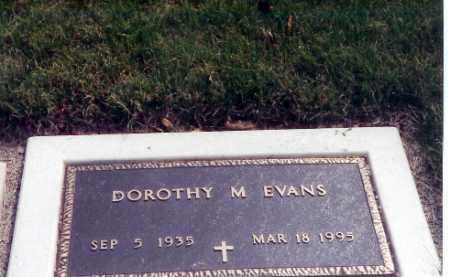 EVANS, DOROTHY M. - Miami County, Ohio | DOROTHY M. EVANS - Ohio Gravestone Photos