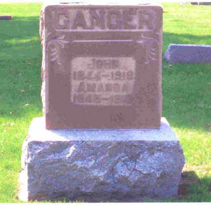 GANGER, AMANDA - Miami County, Ohio | AMANDA GANGER - Ohio Gravestone Photos