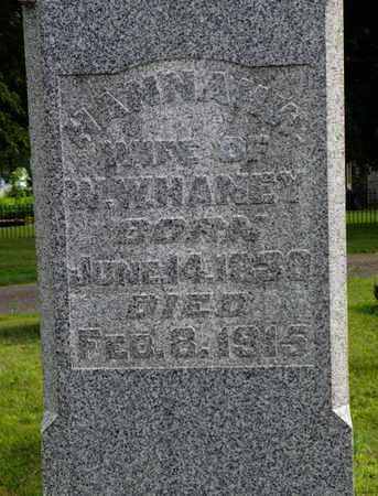 HANEY, HANNAH W. - Miami County, Ohio | HANNAH W. HANEY - Ohio Gravestone Photos