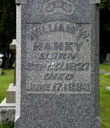HANNEY, WILLIAM W. - Miami County, Ohio | WILLIAM W. HANNEY - Ohio Gravestone Photos