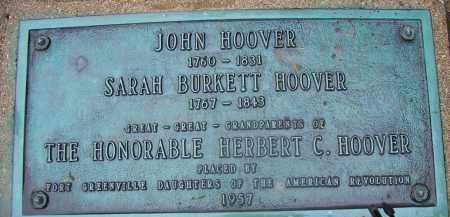 HOOVER, SARAH - Miami County, Ohio | SARAH HOOVER - Ohio Gravestone Photos