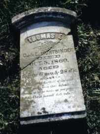HUNTSINGER, THOMAS E. - Miami County, Ohio | THOMAS E. HUNTSINGER - Ohio Gravestone Photos
