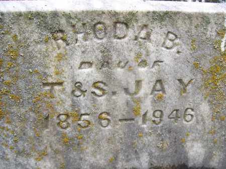 JAY, RHODA B - Miami County, Ohio | RHODA B JAY - Ohio Gravestone Photos