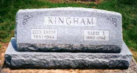 KNOOP KINGHAM, LUCY - Miami County, Ohio | LUCY KNOOP KINGHAM - Ohio Gravestone Photos