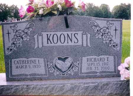 KOONS, RICHARD T. - Miami County, Ohio | RICHARD T. KOONS - Ohio Gravestone Photos