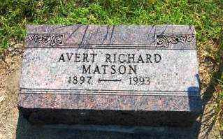 MATSON, AVERT RICHARD - Miami County, Ohio | AVERT RICHARD MATSON - Ohio Gravestone Photos