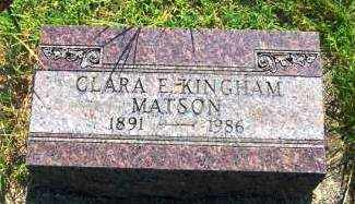 KINGHAM MATSON, CLARA - Miami County, Ohio | CLARA KINGHAM MATSON - Ohio Gravestone Photos