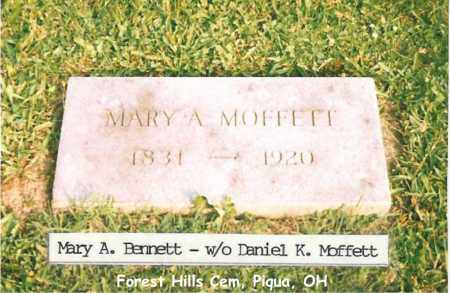 BENNETT MOFFETT, MARY - Miami County, Ohio | MARY BENNETT MOFFETT - Ohio Gravestone Photos