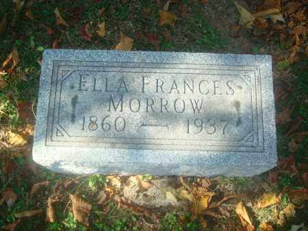MORROW, ELLA FRANCES - Miami County, Ohio | ELLA FRANCES MORROW - Ohio Gravestone Photos