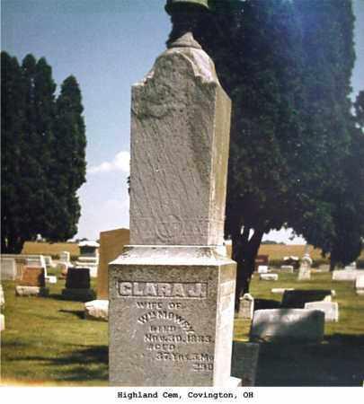 RAIN MOWRY, CLARA - Miami County, Ohio | CLARA RAIN MOWRY - Ohio Gravestone Photos