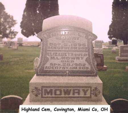 ULLERY MOWRY, ELIZABETH - Miami County, Ohio | ELIZABETH ULLERY MOWRY - Ohio Gravestone Photos