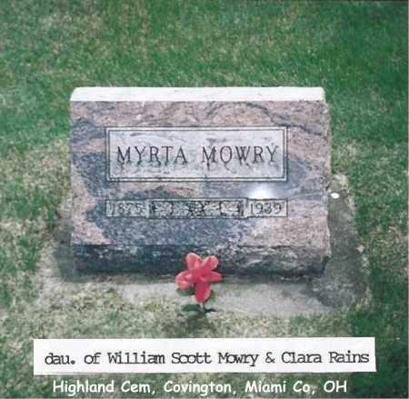MOWRY, MYRTA - Miami County, Ohio | MYRTA MOWRY - Ohio Gravestone Photos