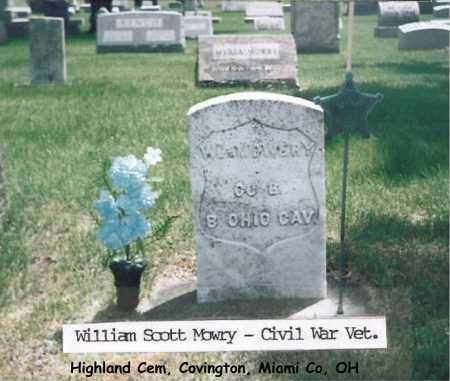 MOWRY, WILLIAM - Miami County, Ohio | WILLIAM MOWRY - Ohio Gravestone Photos